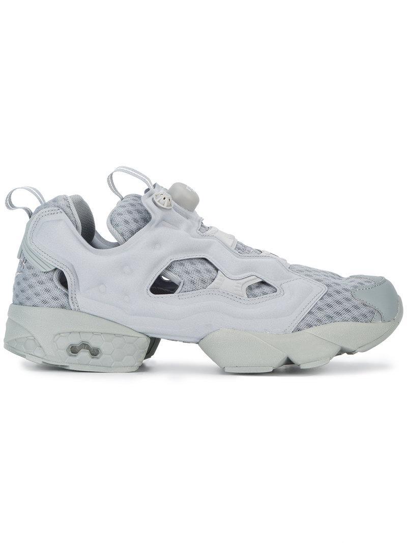 Reebok Grey Instapump Fury Og Sneakers