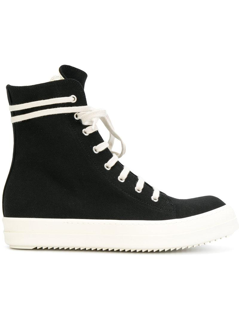 Rick Owens Drkshdw Lace-up Hi-top Sneakers In Black