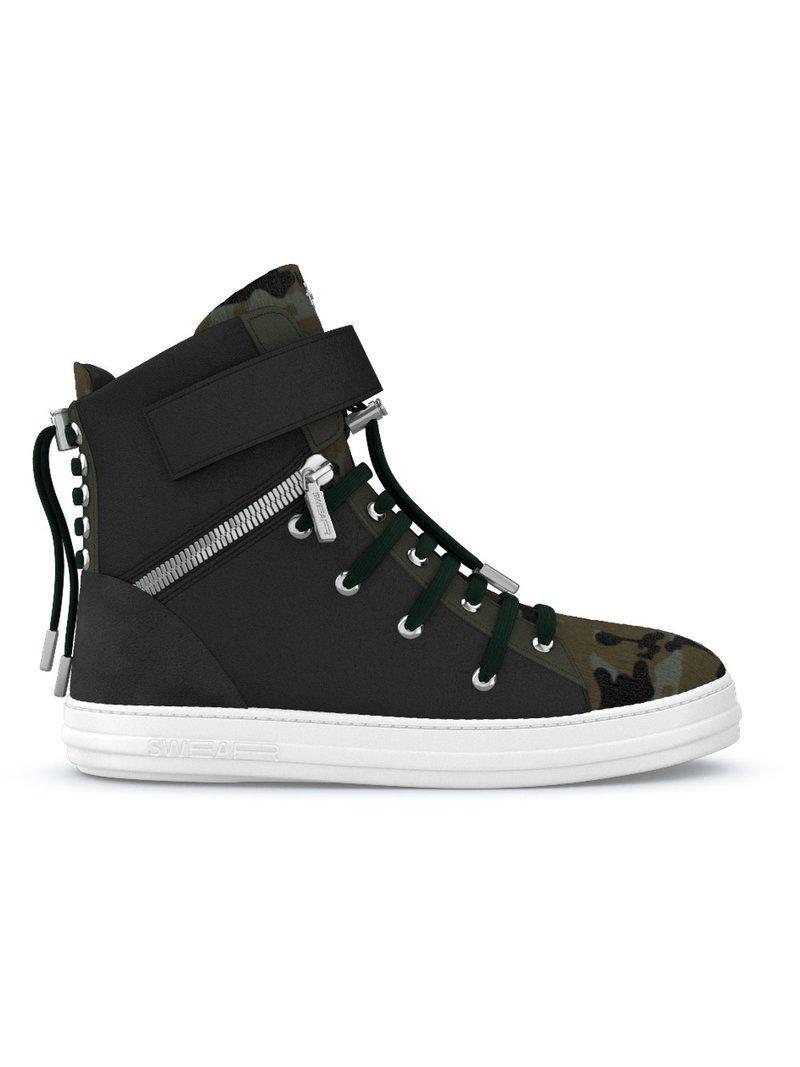 Swear Regent Hi-top Sneakers - Black