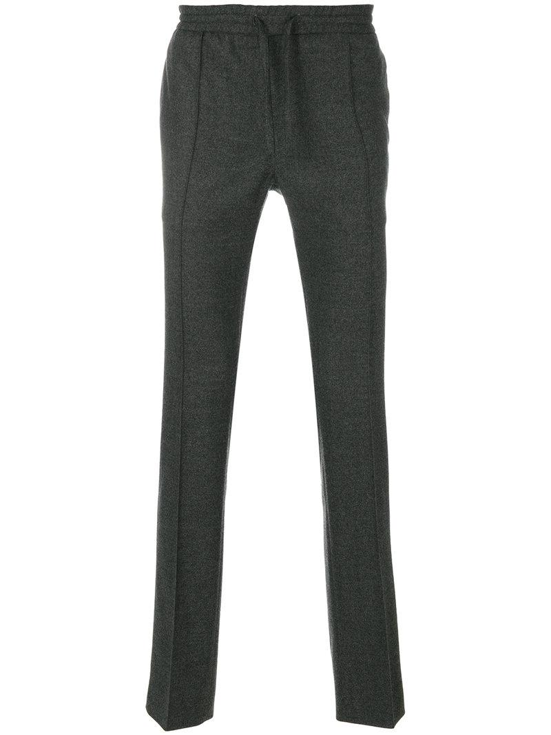 Brioni Pleated Drawstring Trousers - Grey