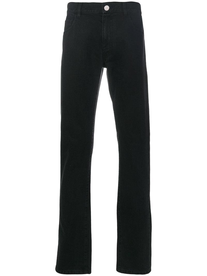 Raf Simons Straight-leg Classic Jeans In Black