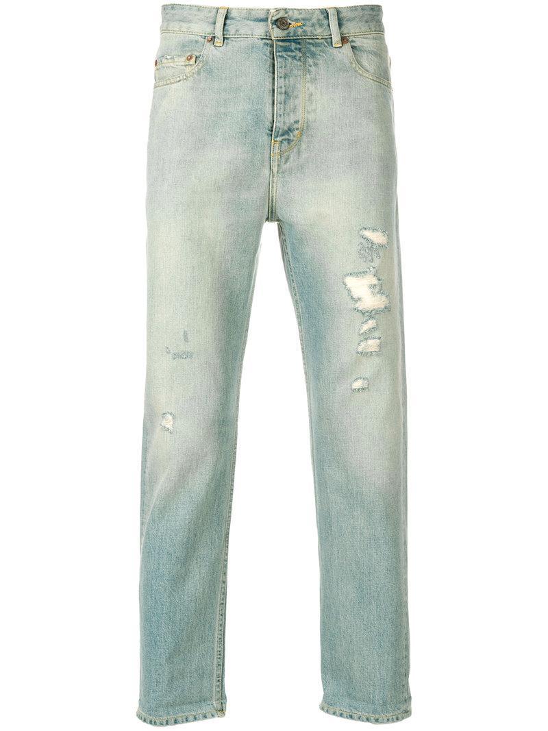 Golden Goose Straight Leg Distressed Jeans