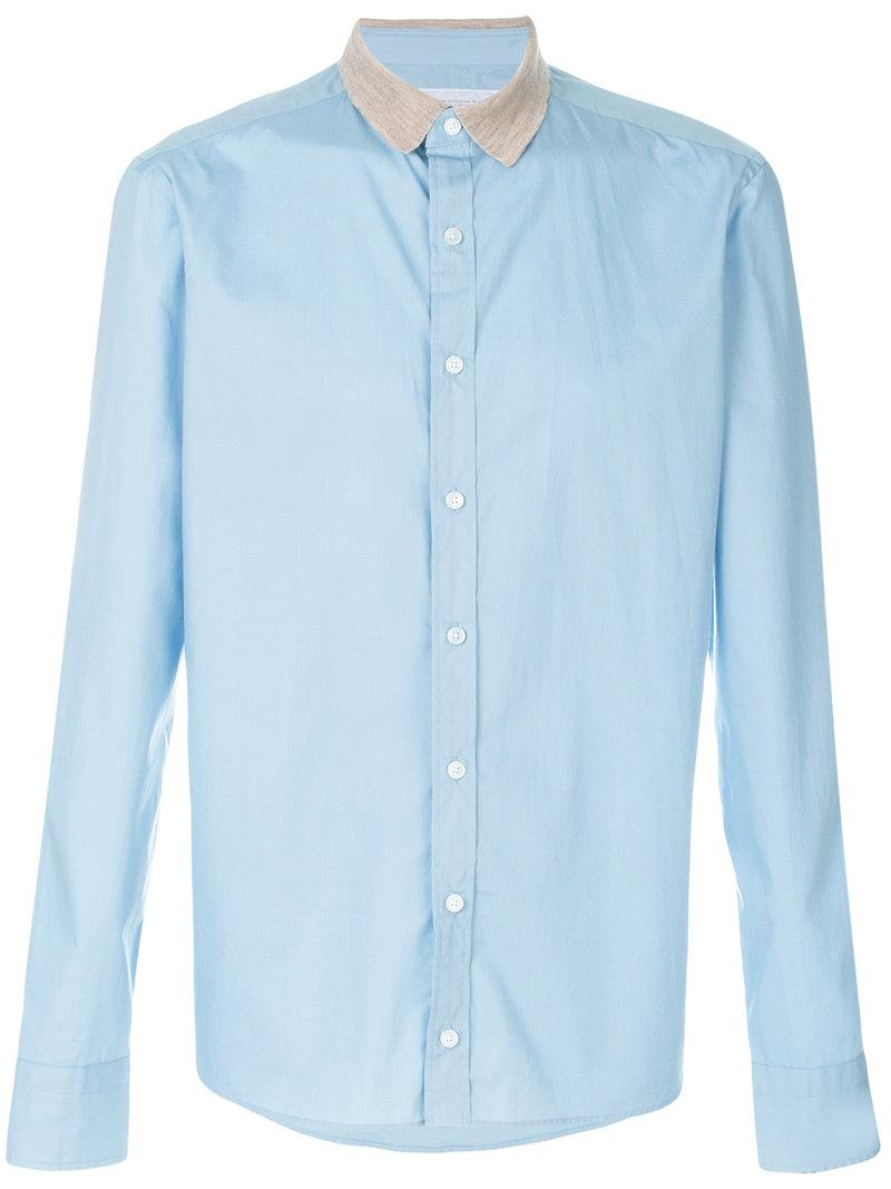 Kolor Contrast Collar Shirt