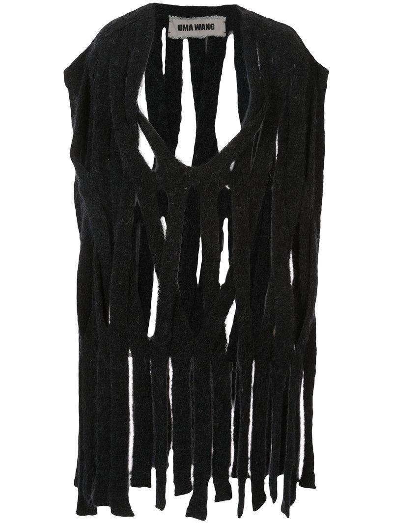 Uma Wang Shredded Top In Black