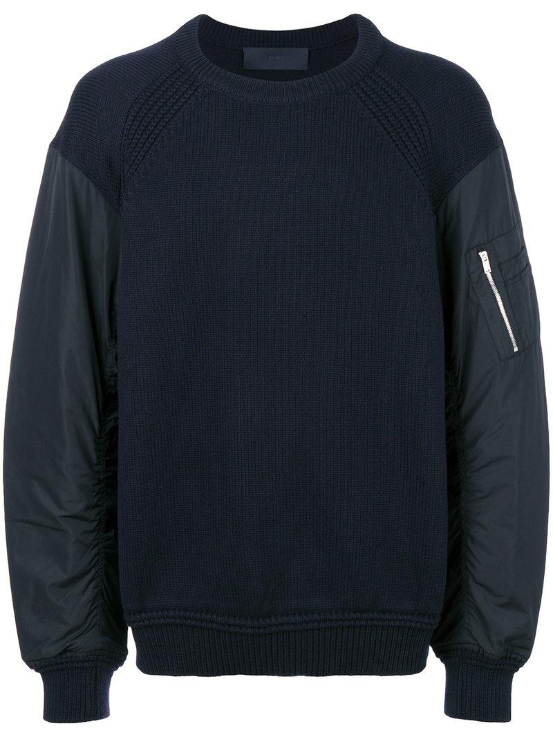 Juun.j Padded Sleeves Sweatshirt
