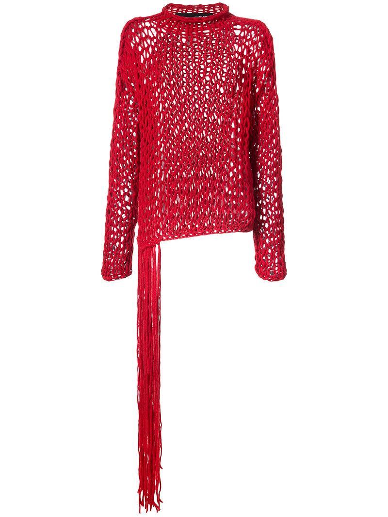 Isabel Benenato Fringed Knitted Sweater