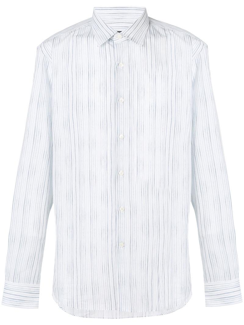 Salvatore Ferragamo Faded Stripe Pattern Shirt