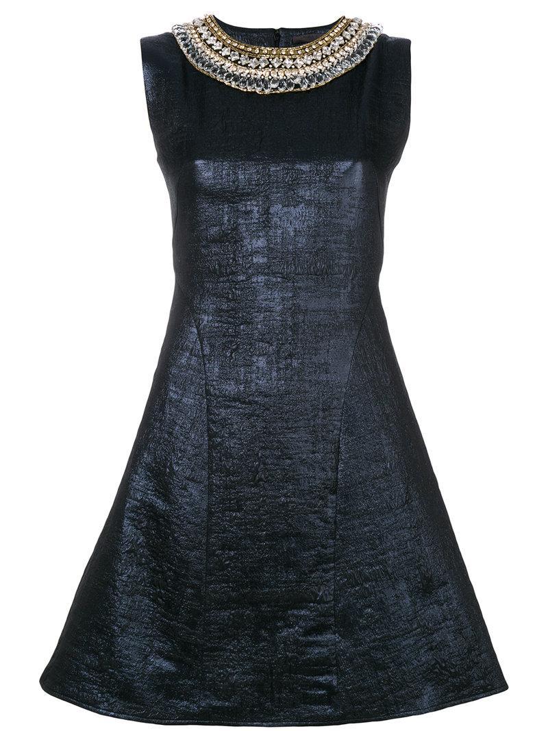 Amen Embroidered Neck Dress