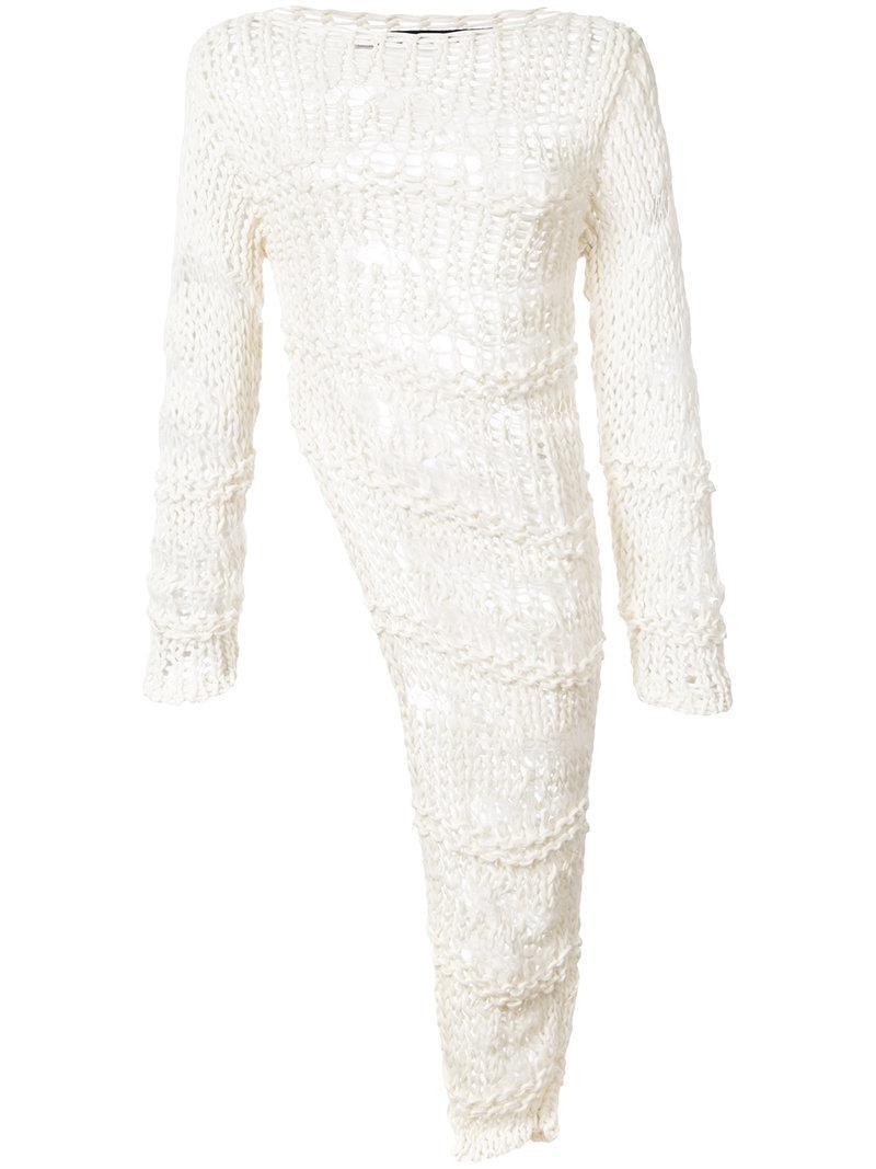 Isabel Benenato Asymmetric Knitted Sweater