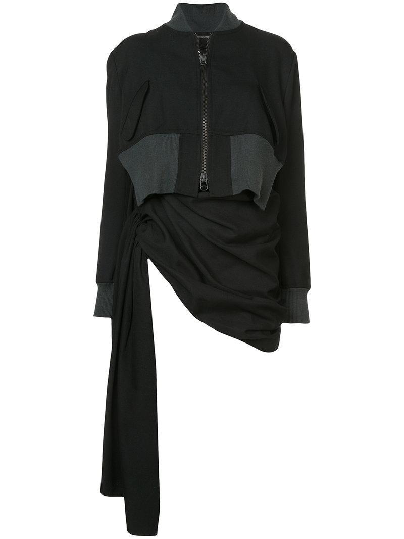 Yohji Yamamoto Gathered Jacket In Black