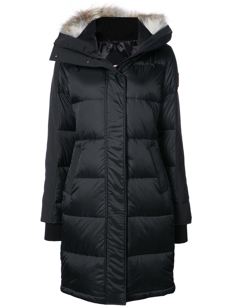 Canada Goose Goose Down Padded Coat In Black