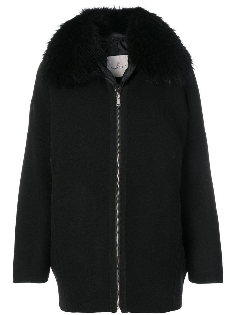 Moncler Buxus Coat In Black