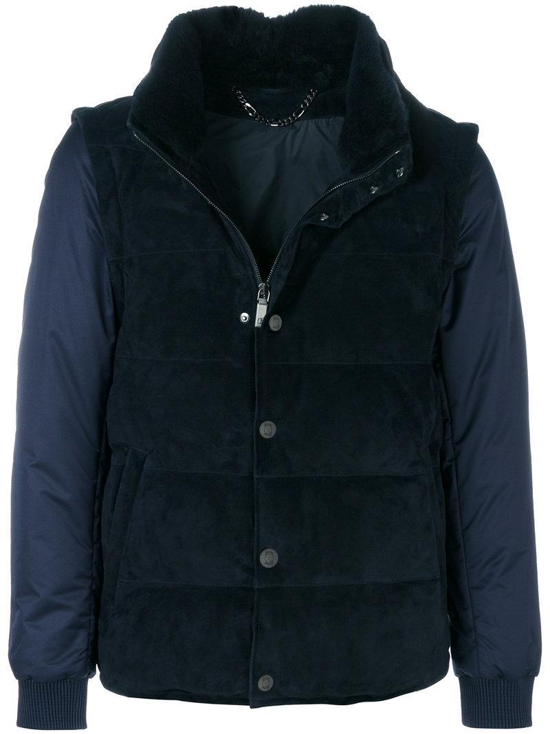 Brioni Gilet-look Padded Jacket - Black