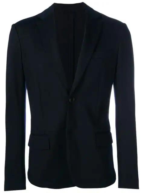Emporio Armani Single Breasted Blazer - Blue