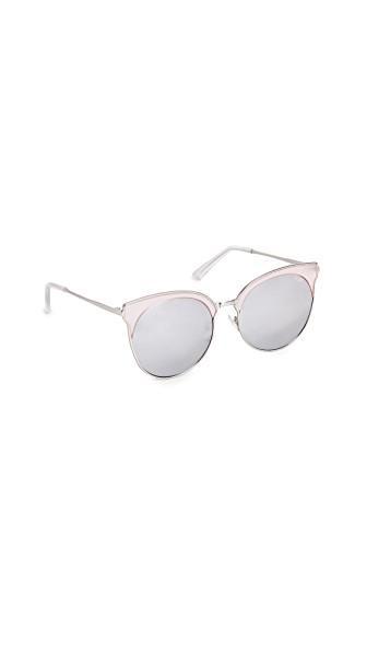 Quay Mia Bella Sunglasses In Pink/silver