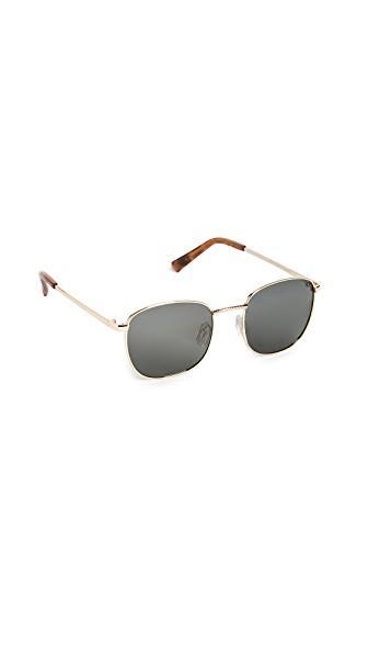 Le Specs Neptune Sunglasses In Bright Gold/khaki Mono