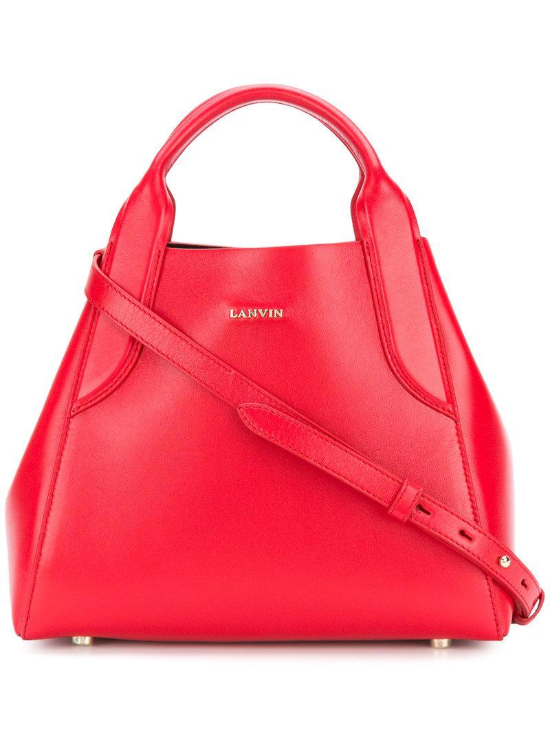 Lanvin Mini Cabas Bag In Red