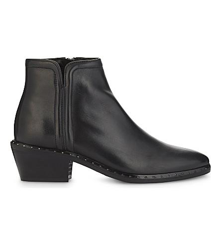 Claudie Pierlot Axel Bis Leather Ankle Boots In Noir