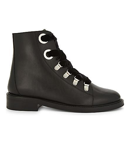 Claudie Pierlot Aramis Leather Boots In Noir