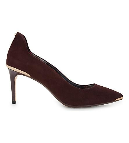 Ted Baker Vyixin Pointed Courts In Oxblood