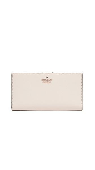 Kate Spade Cameron Street Stacy Snap Wallet In Tusk
