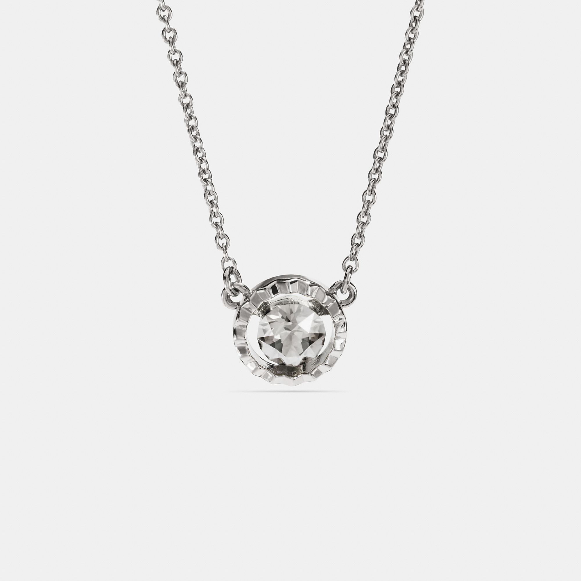 Coach Sunburst Necklace In Silver
