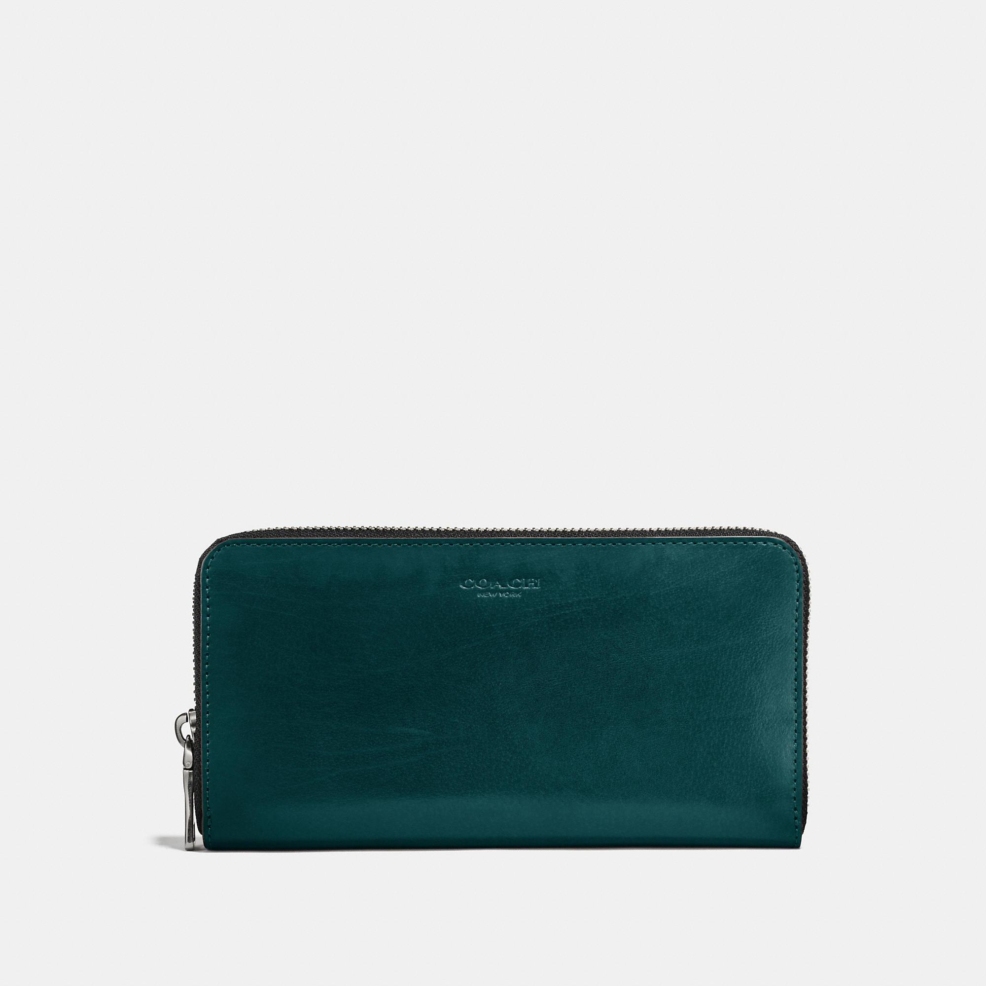 Coach Accordion Wallet In Forest