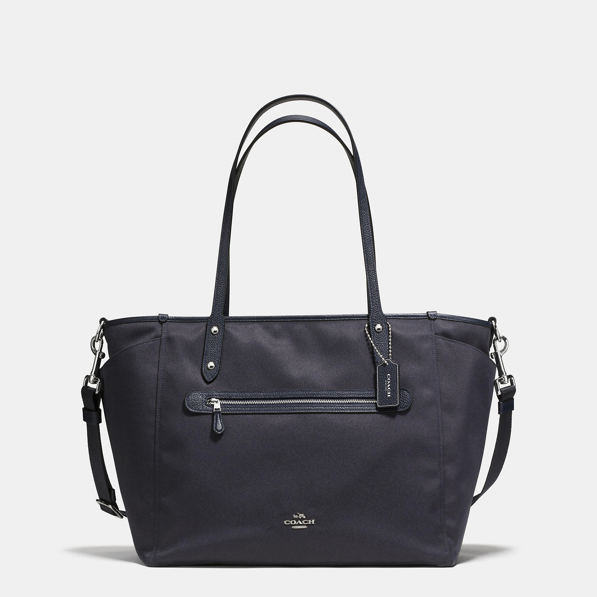 Coach Baby Tote In Navy/silver