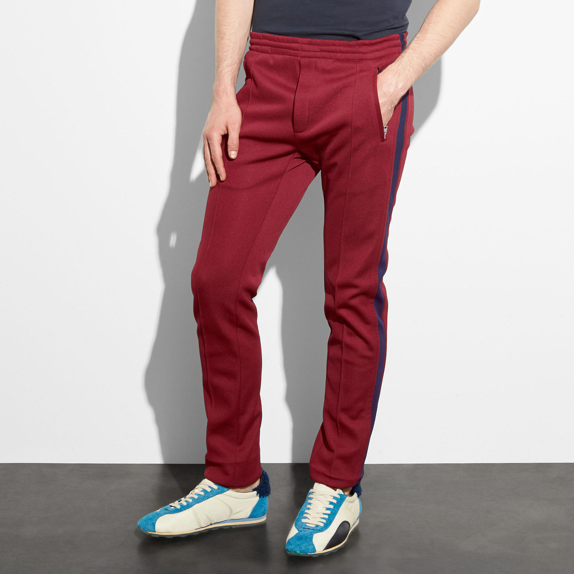 Coach Track Pants In Wine