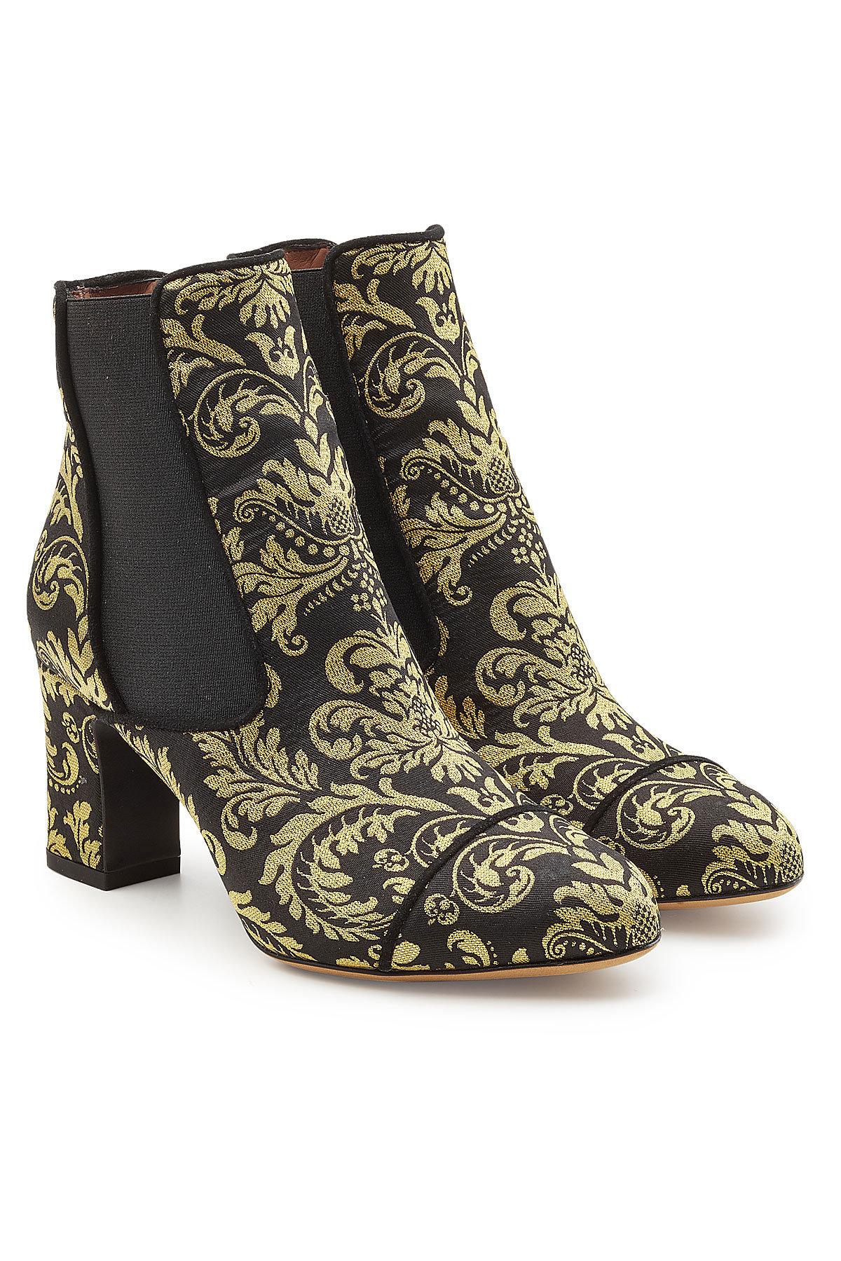 Tabitha Simmons Kiki Damask Printed Ankle Boots In Multicolored