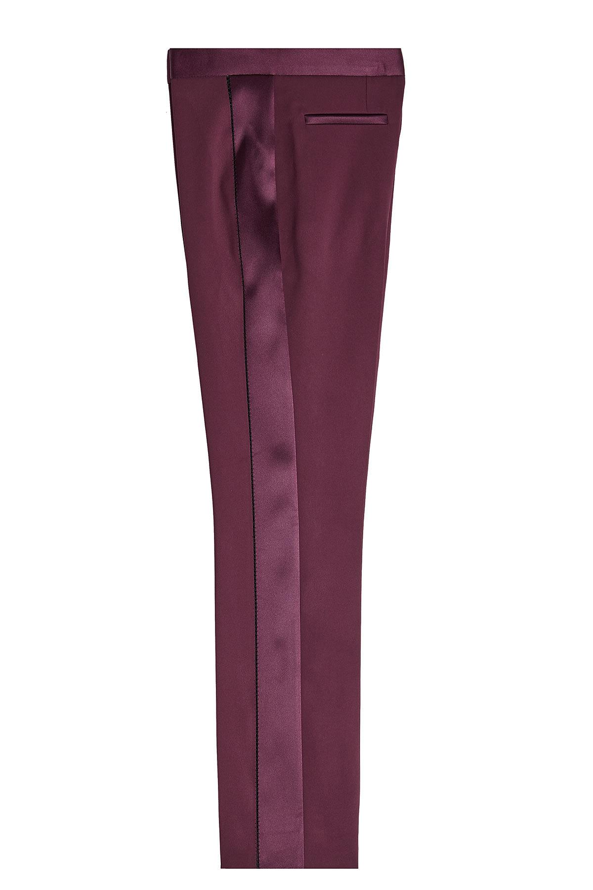 Versace Tuxedo Pants With Silk In Red
