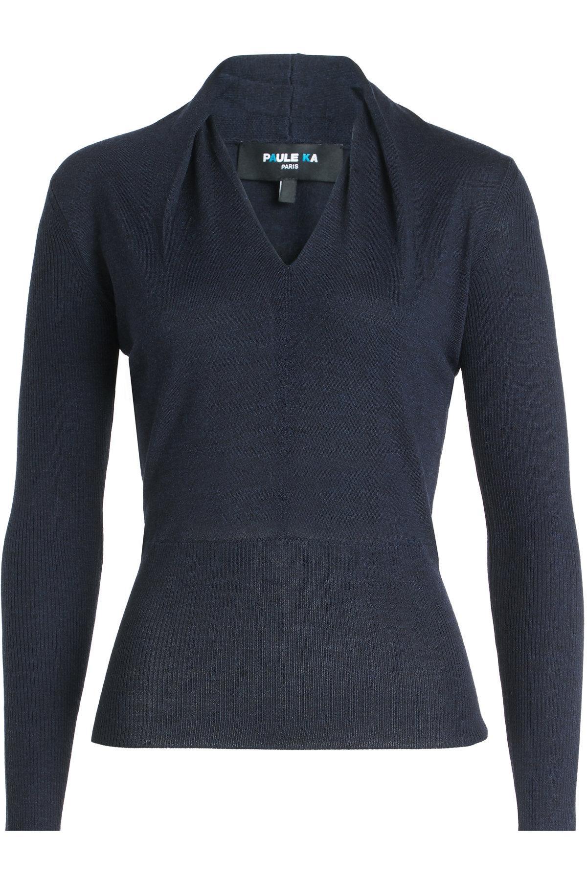 Paule Ka Wool Pullover In Blue