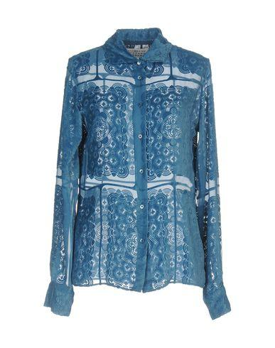 Maison Margiela Solid Color Shirts & Blouses In Deep Jade