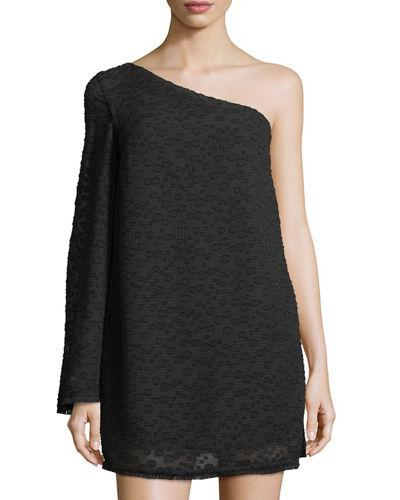 C/meo Collective Static Space One-shoulder Dress In Black
