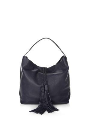 Rebecca Minkoff Isobel Leather Hobo Bag In Moon