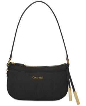 Calvin Klein Josie Small Demi Bag In Black Gold
