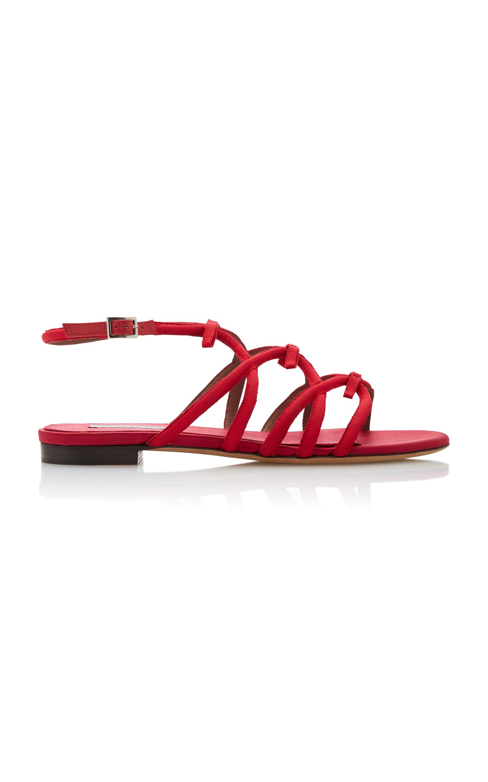 Tabitha Simmons Women's Minna Bow Sandals In Red