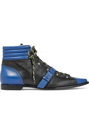 Emilio Pucci Woman Quilted Leather Ankle Boots Royal Blue