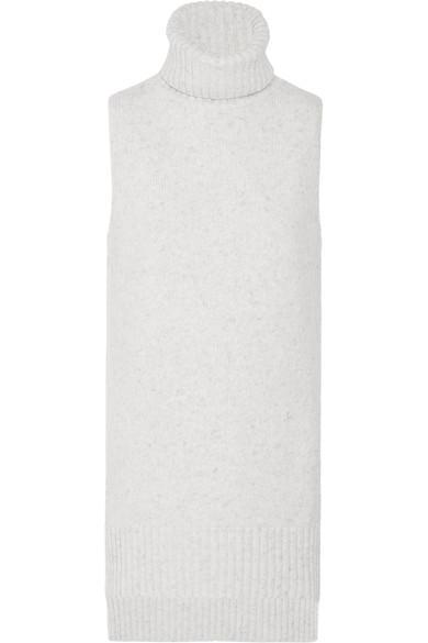 Adam Lippes Merino Wool And Cashmere-blend BouclÉ Turtleneck Top