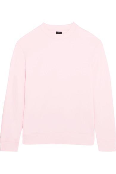 Joseph Oversized Cutout Cotton-jersey Sweatshirt In Pink