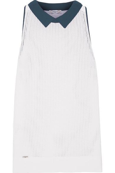L'etoile Sport Stretch-knit Mesh Top In White