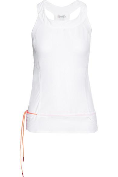 L'etoile Sport Stretch-knit Mesh Tank In White