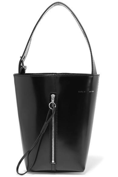 Kara Box Pail Patent-leather Tote