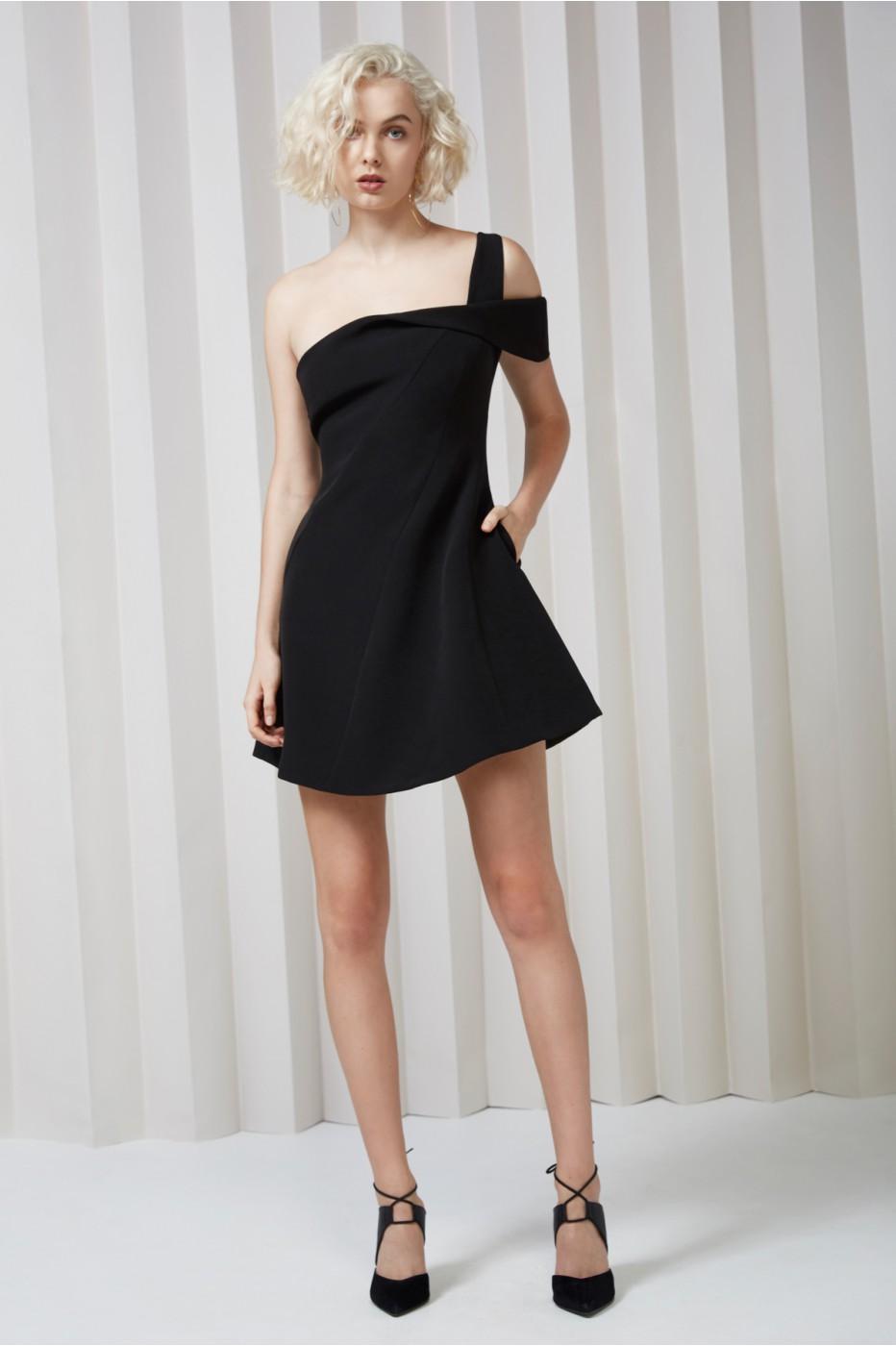 Keepsake Shooting Star Mini Dress In Black