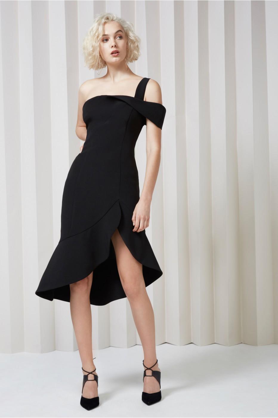 Keepsake Shooting Star Dress In Black