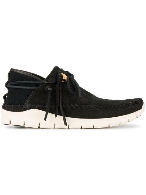 """Visvim """"Ute Moc-Trainer Folk"""" Moccasin Sneakers In Black"""