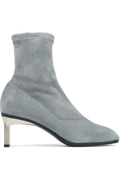 3.1 Phillip Lim Blade Stretch-suede Sock Boots In Anthracite