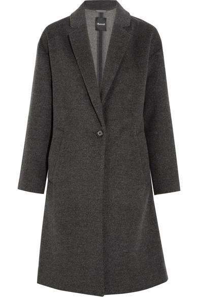 Madewell Monsieur Wool-blend Felt Coat In Heather Shadow