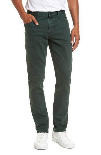 Rvca Daggers Slim Fit Jeans In Green