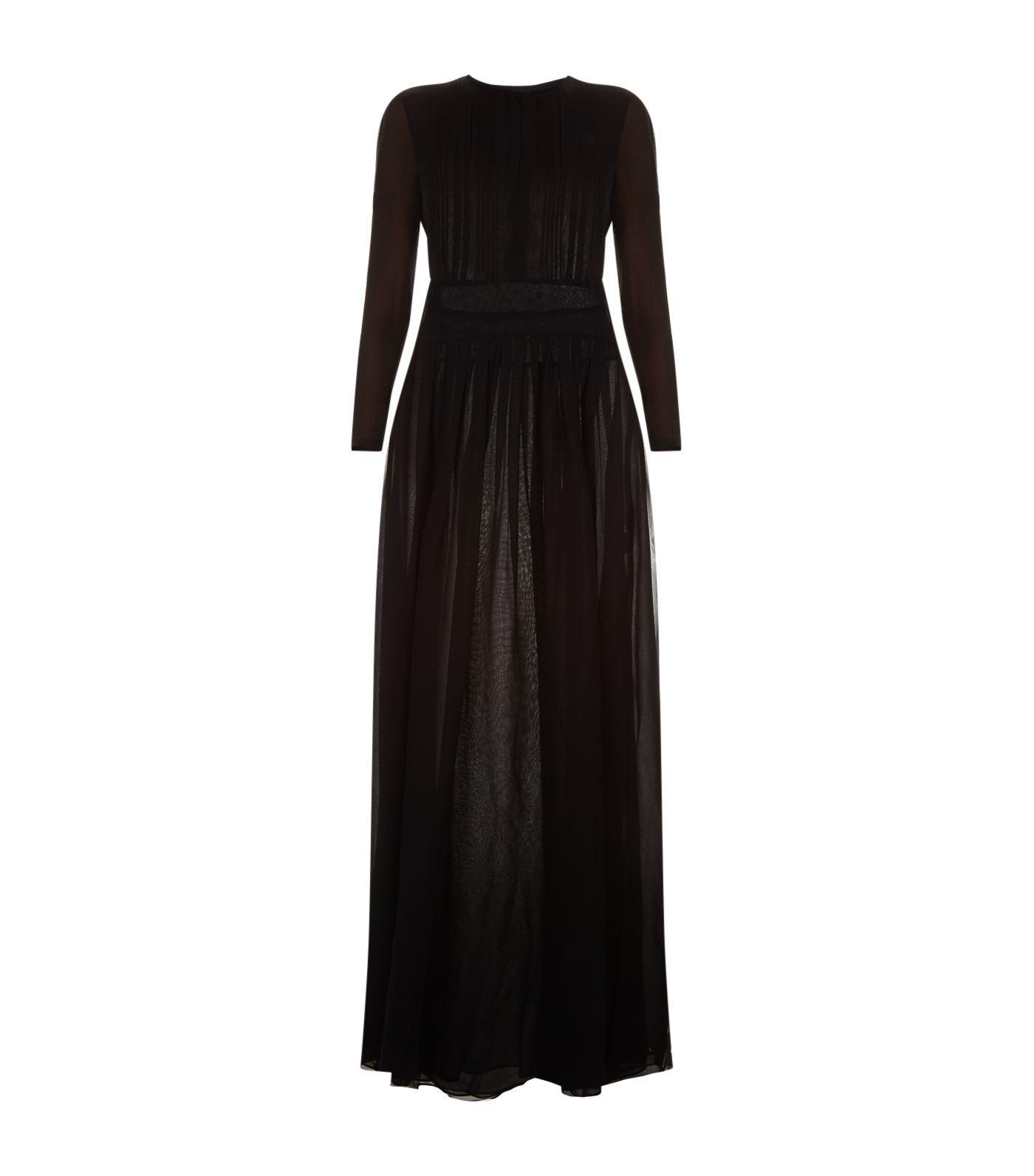 Burberry Cassia Silk Gown In Black